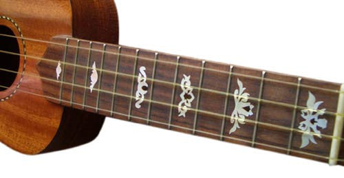Deluxe - Fret Markers for Ukuleles - Inlay Stickers Jockomo