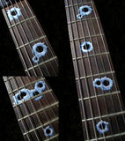 Bullet Holes Fret Markers Inlay Stickers Decals Guitar