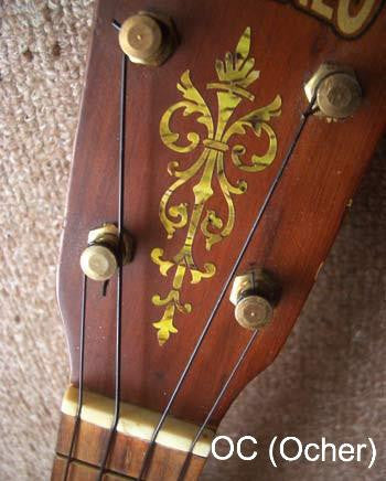 Small Torch - Guitar & Ukulele Headstock - Inlay Stickers Jockomo