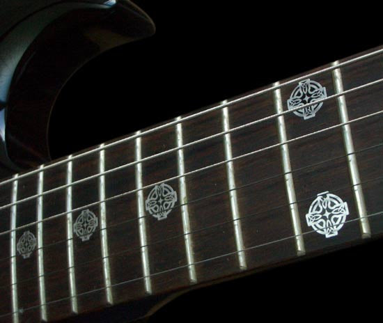 Metallic Celtic Cross - Fret Markers for Guitars & Bass - Inlay Stickers Jockomo