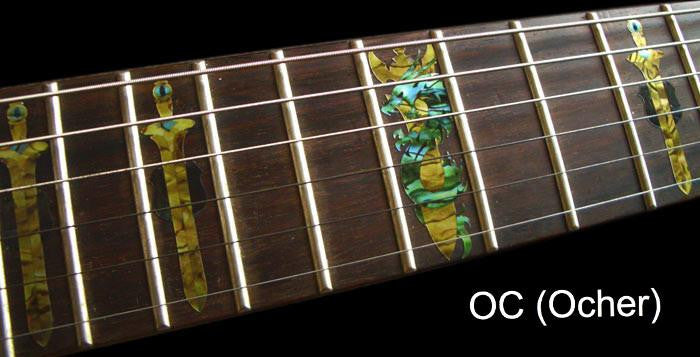 Sword with Dragon Fret Markers Inlay Sticker For Guitar - Inlay Stickers Jockomo