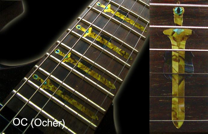 Swords with Dragon - Fret Markers Inlay Sticker for Guitars - Inlay Stickers Jockomo