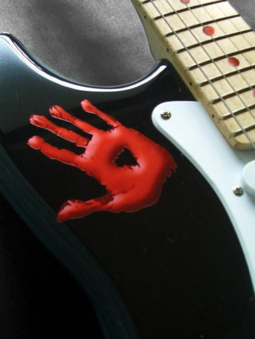 Bloody Handprint Inlay Stickers Decals Guitar Bass - Inlay Stickers Jockomo