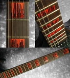 Dripping Blood Block Fret Markers Inlay Stickers Guitar