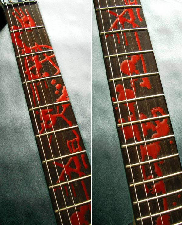 Bloody-Line Fret Markers for Guitars - Inlay Stickers Jockomo