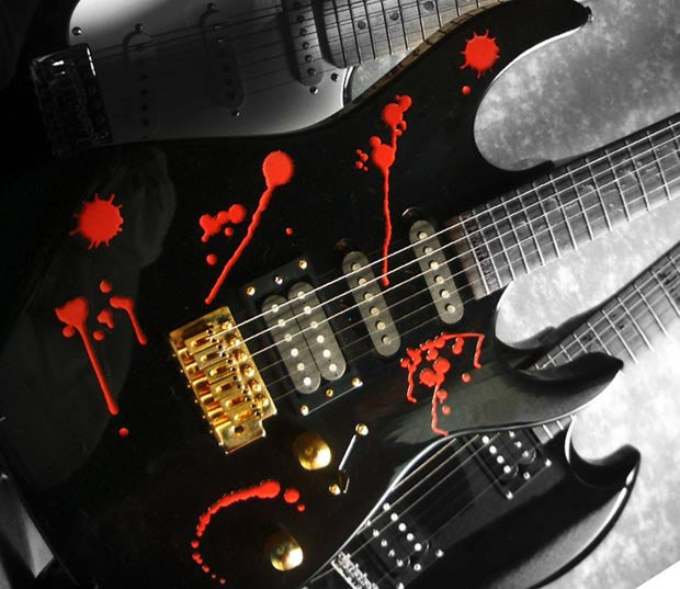 Splattered Blood SET Stickers Decals Guitar Bass - Inlay Stickers Jockomo