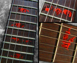 Bat Wings Vampire Fret Markers Inlay Stickers