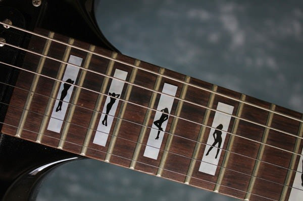 Stripper Girls Silhouette in Blocks - Fret Markers Inlay Stickers Decals for Guitars - Inlay Stickers Jockomo