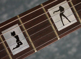 Girls in Block Fret Markers Inlay Stickers Decals Guitar