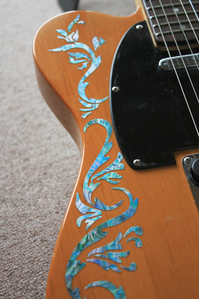 Bob Weir's Cowboy Fancy Vine Inlay Stickers - Inlay Stickers Jockomo