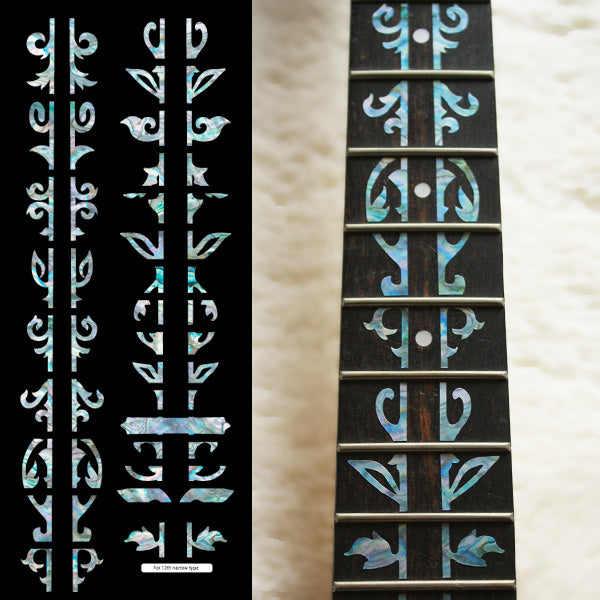Bob Weir's Vine of Tree Fret Markers Inlay Sticker Guitar - Inlay Stickers Jockomo