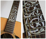Ornamental Swirl Fret Markers Inlay Stickers For Guitar Neck