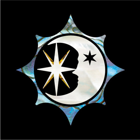Sun, Moon and Star Symbol Inlay Stickers Decals