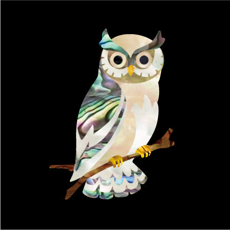Owl Inlay Sticker Inlay Stickers Decals