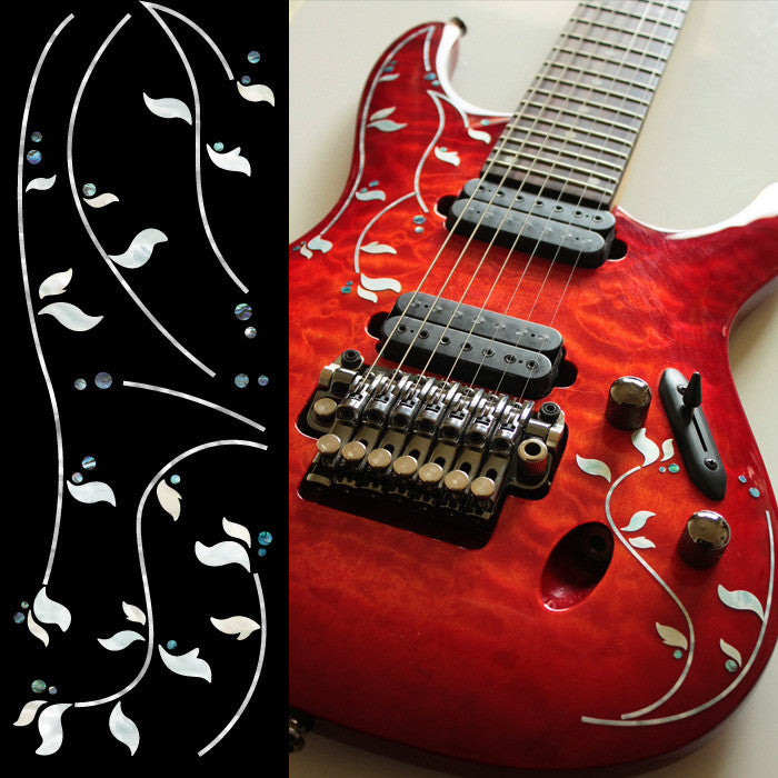 J.Custom Vine Inlay Sticker Decal Guitar Bass