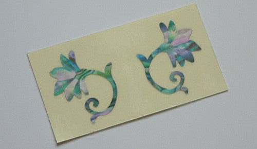 Bridge Inlay Sticker - Oriental Flowers 2pcs/set - Inlay Stickers Jockomo