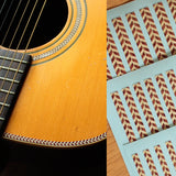 Binding Sticker/Decal (Woody-Herringbone) For Body, Guitar, Ukulele,Mandolin...