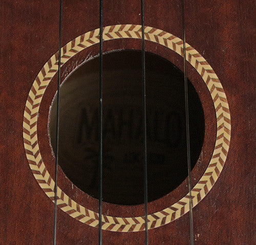 Ukulele Rosette (Woody-Herringbone) Purflinng Soundhole Inlay Sticker Decal - Inlay Stickers Jockomo