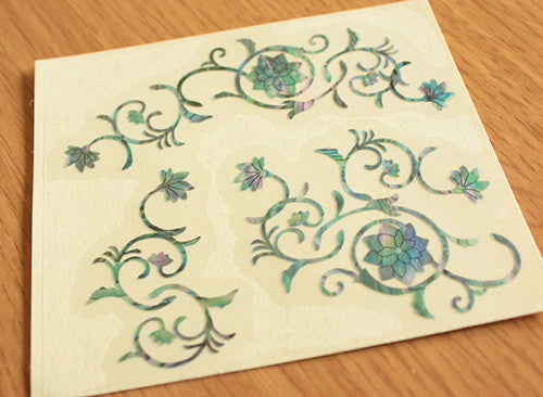 Oriental Flowers Inlay Sticker SET - Inlay Stickers Jockomo