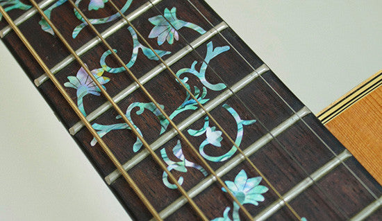Oriental Flowers - Fret Markers Inlay Stickers for Guitars - Inlay Stickers Jockomo
