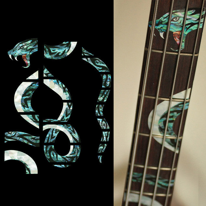 Twisted Snake - Fret Markers for Bass - Inlay Stickers Jockomo