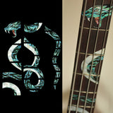 TWISTED SNAKE Fretboard Markers Inlay Sticker For BASS
