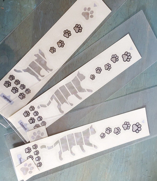 Ukulele Cat Foot Prints/Cat Paws Fret Markers Inlay Stickers Decals - Inlay Stickers Jockomo