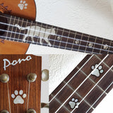 Ukulele Cat Foot Print / Cat Paws Fret Markers Inlay Stickers Decals - Inlay Stickers Jockomo