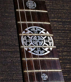 Emblem 12th Fret Markers Set - Celtic Cross Metallic