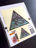 Pyramid Eye (large and small) Inlay Sticker Guitar & Bass