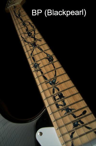 Barbed Wire - Fret Markers Inlay Stickers Decals for Guitars - Inlay Stickers Jockomo