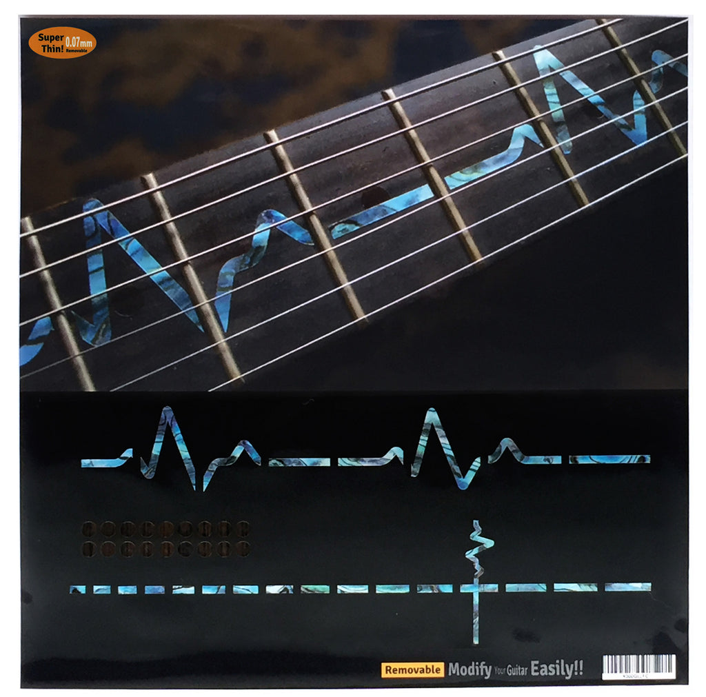 EKG Heartbeat Line Fret Markers Inlay Stickers For Guitar - Inlay Stickers Jockomo