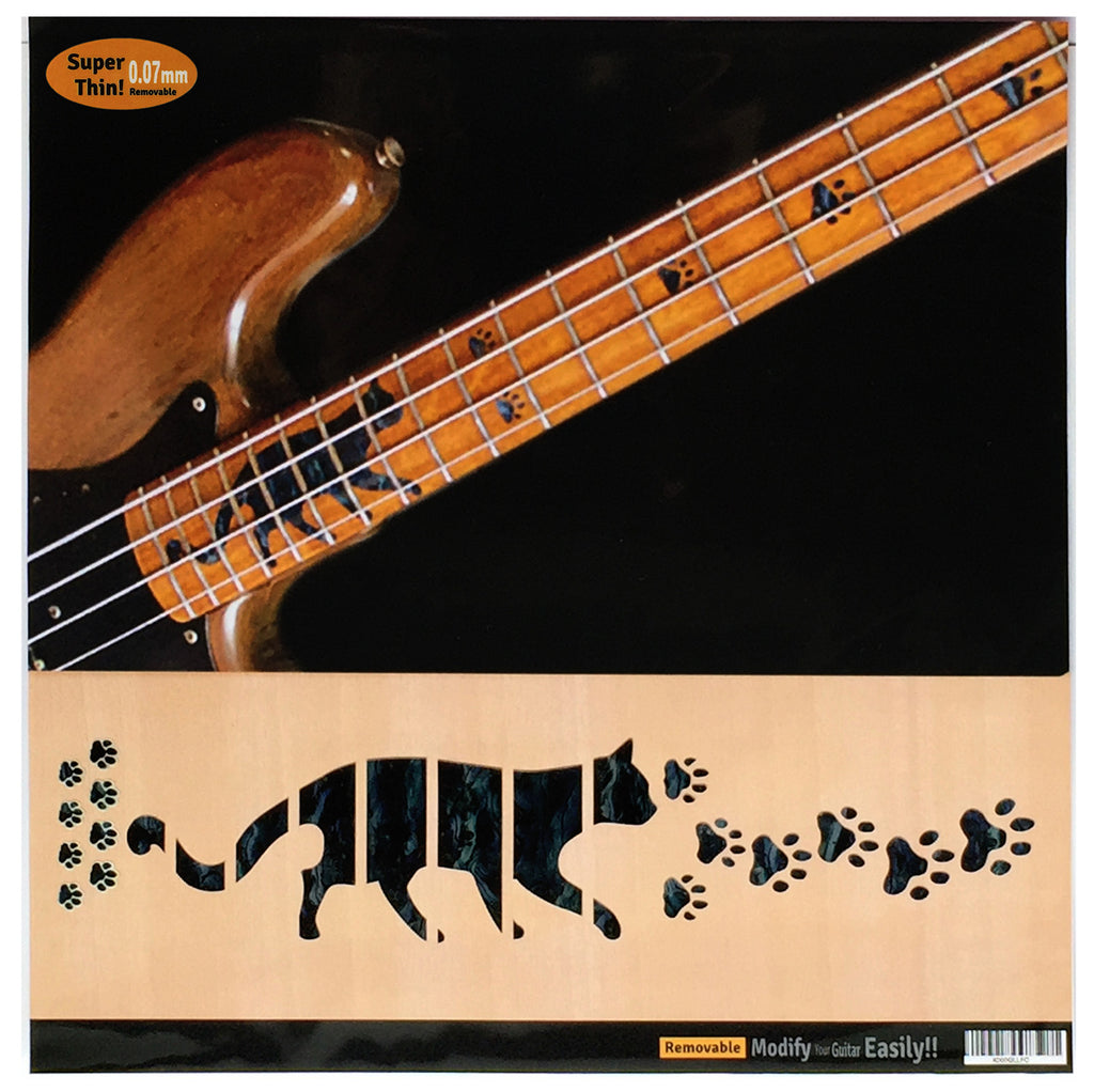 Cat Foot Prints / Cat Paws - Fret Markers Inlay Stickers for BASS - Inlay Stickers Jockomo