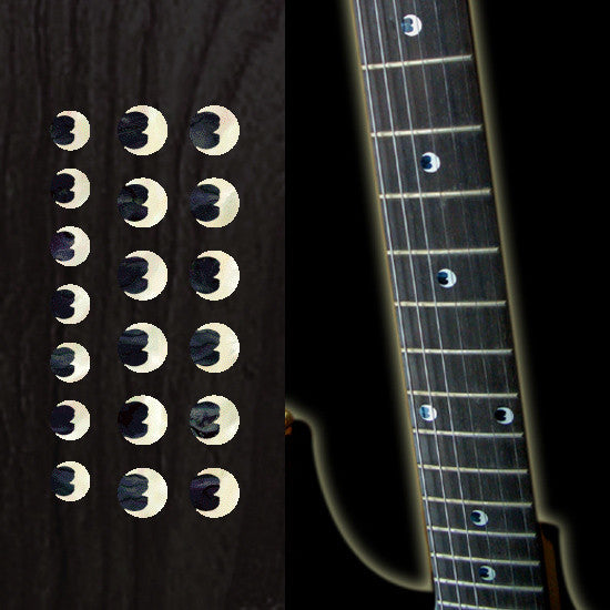 "Crescent Moon 5/16""(6.35mm) Dot Fret Markers - Inlay Stickers Jockomo"