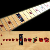 Rose Fret Markers Inlay Stickers - Inlay Stickers Jockomo