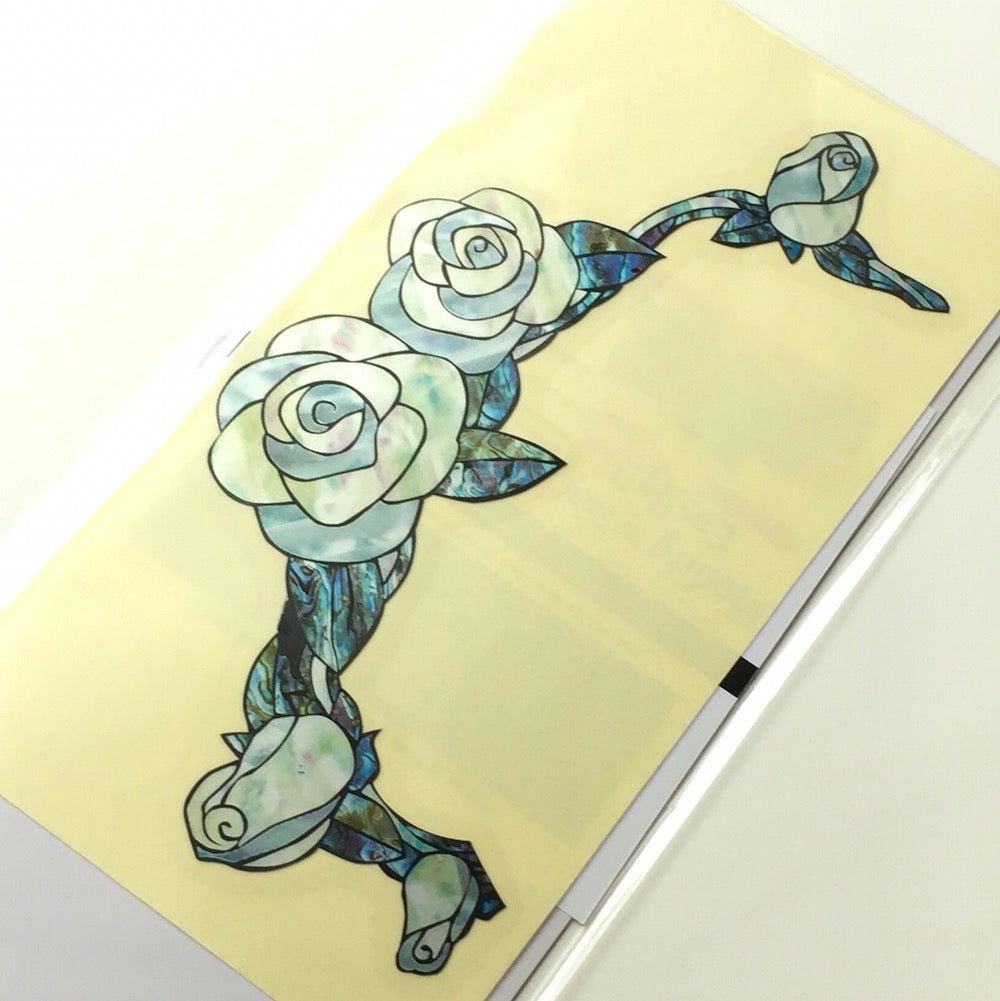 White Roses Inlay Stickers - Inlay Stickers Jockomo