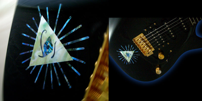Pyramid / Psychedelic Eye Triangle - Inlay Stickers Jockomo