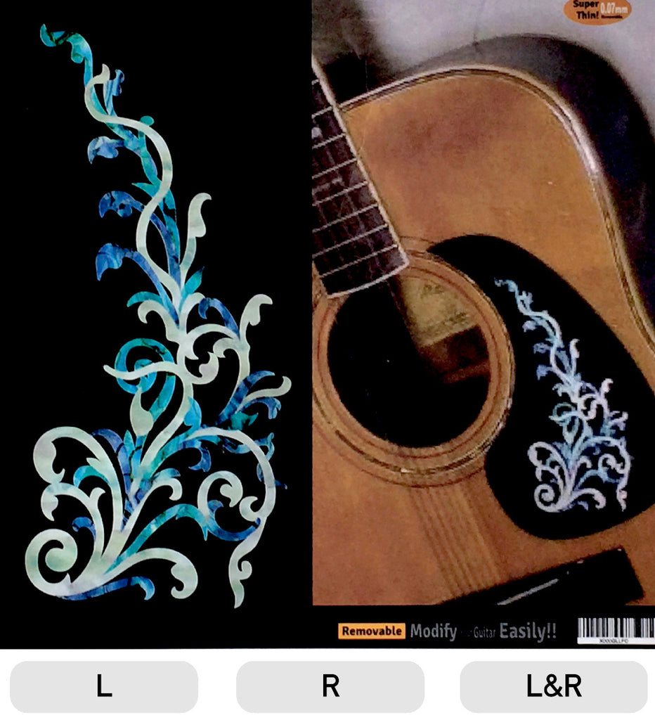 Vintage Vines (Abalone Blue) - Inlay Stickers Jockomo