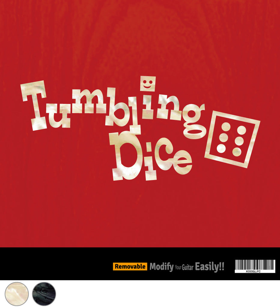 Tumbling Dice Inlay Stickers Decals Guitar Bass - Inlay Stickers Jockomo