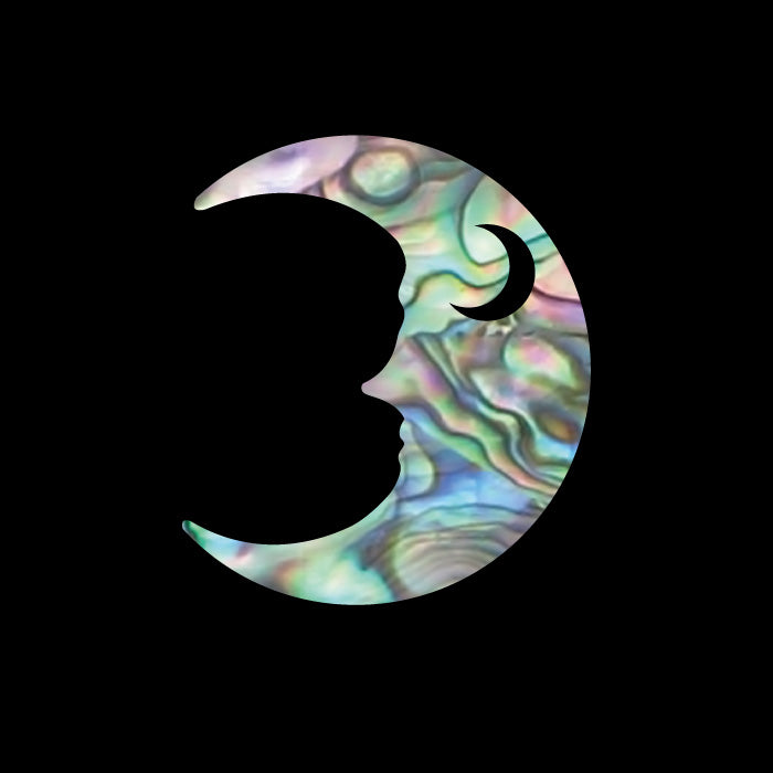Crescent Moon Inlay Sticker