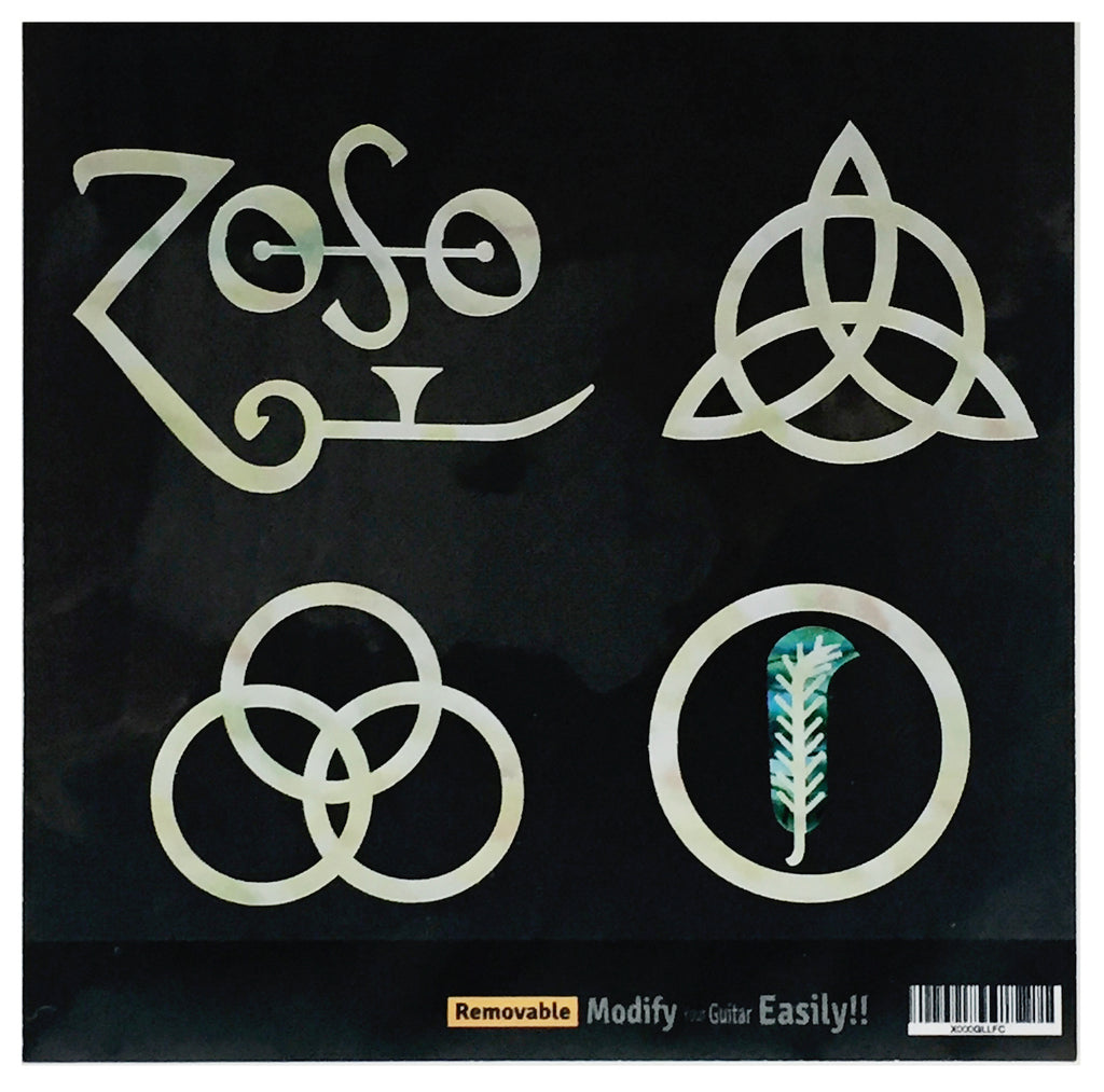 "4 symbols Led Zeppelin IV ""ZOSO""  Inlay Stickers Decals - Inlay Stickers Jockomo"