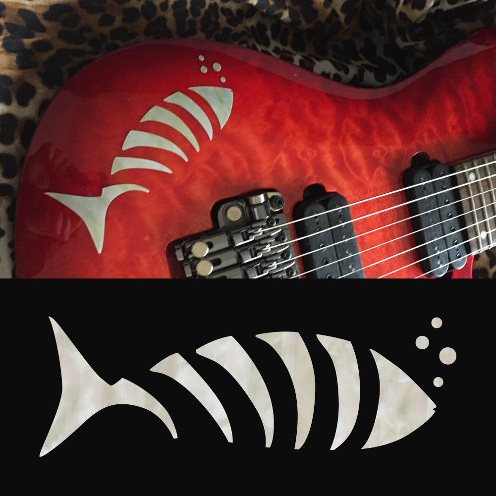 Fish Bone Guitar Body Inlay Sticker