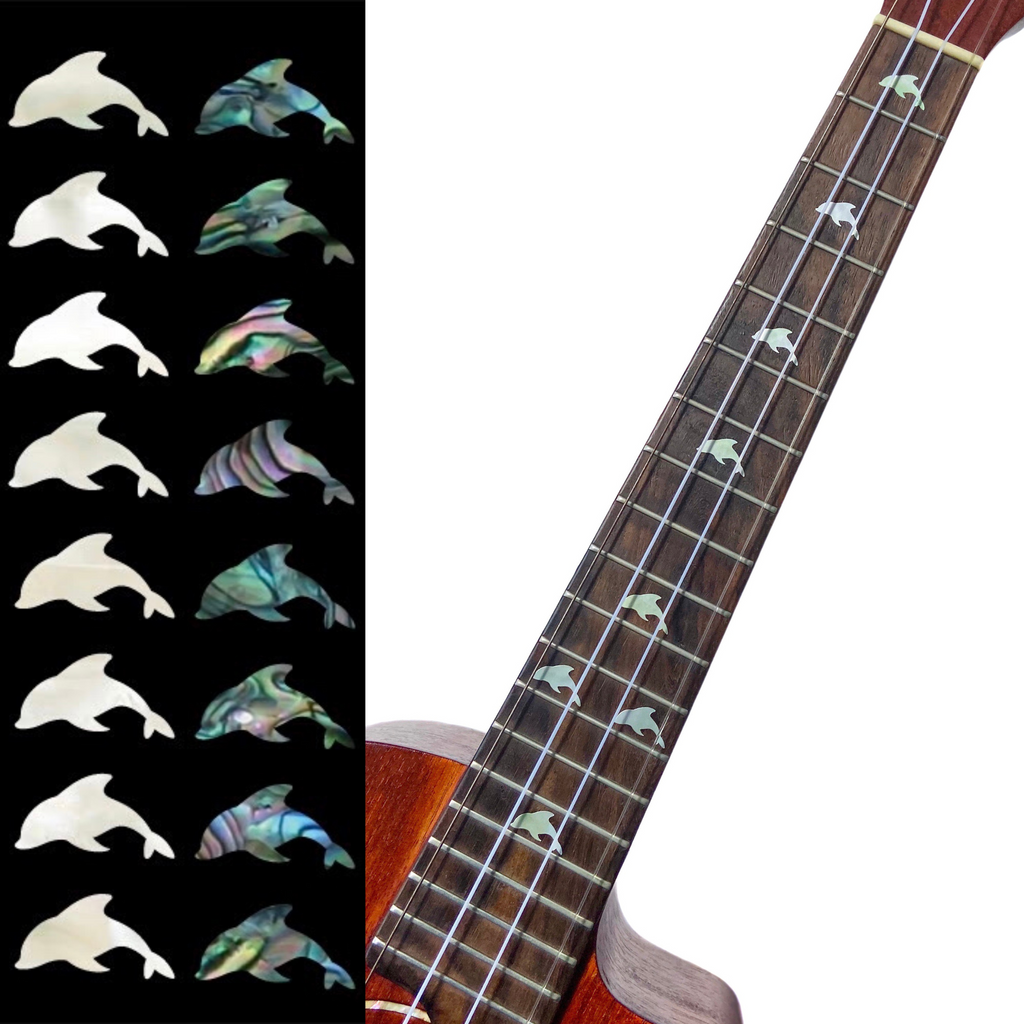 Dolphins - Fret Markers for Ukuleles (2 Colors)