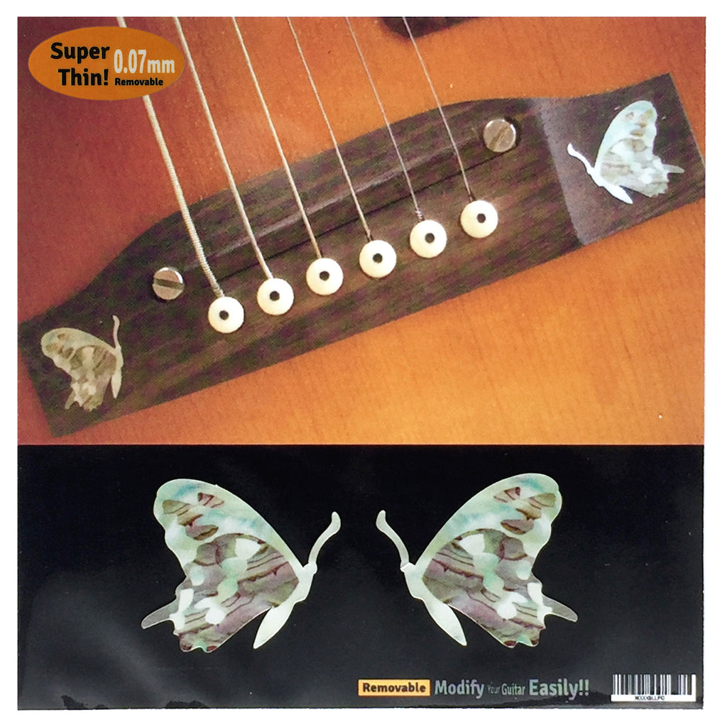 Butterfly - 2pcs Bridge Inlays - Inlay Stickers Jockomo