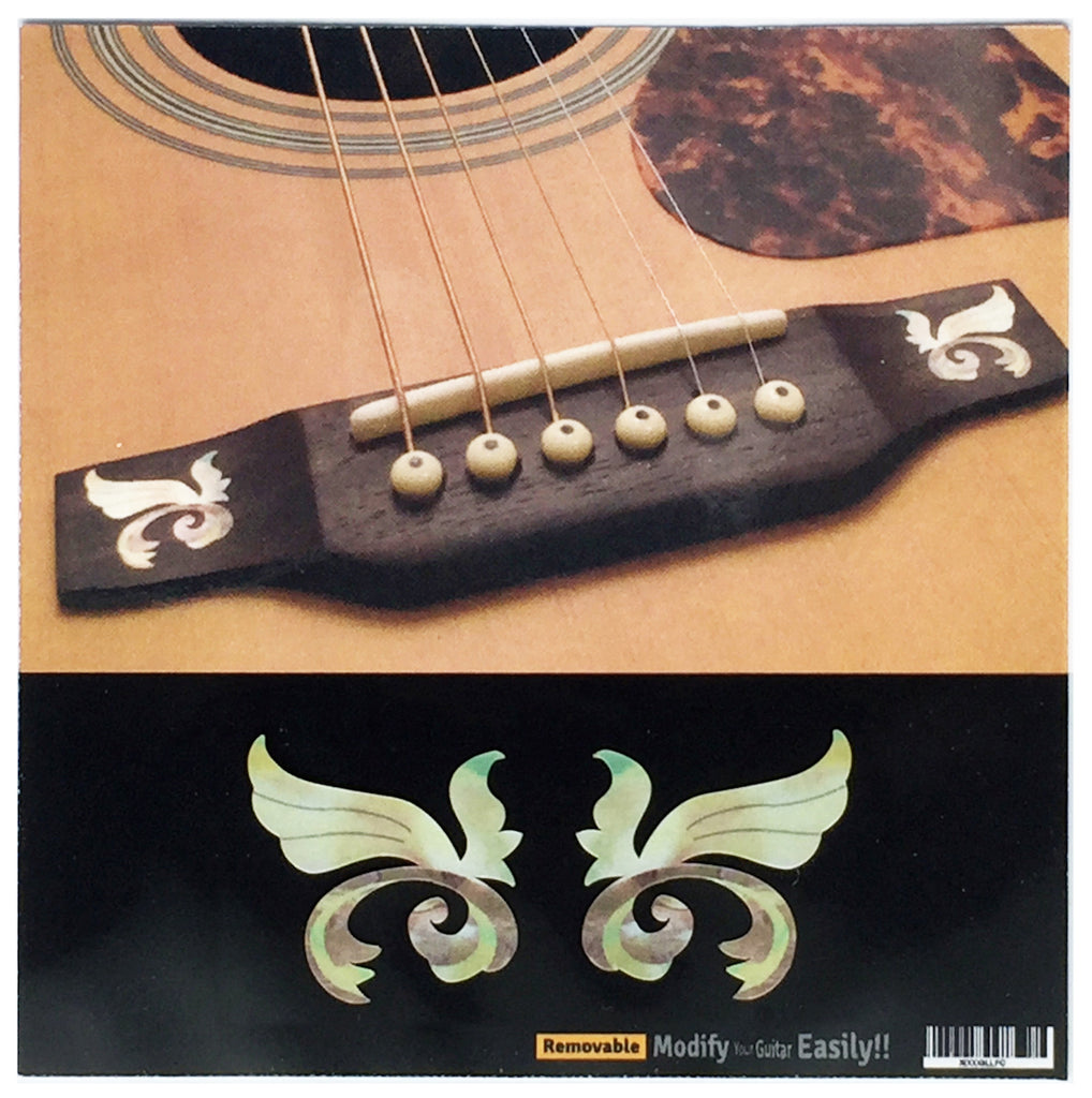Little Wing - 2pcs Bridge Inlays - Inlay Stickers Jockomo