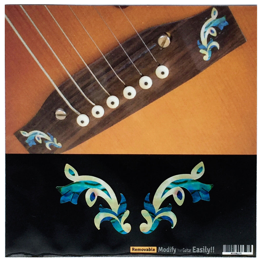Traditional Motif - 2pcs Bridge Inlays - Inlay Stickers Jockomo