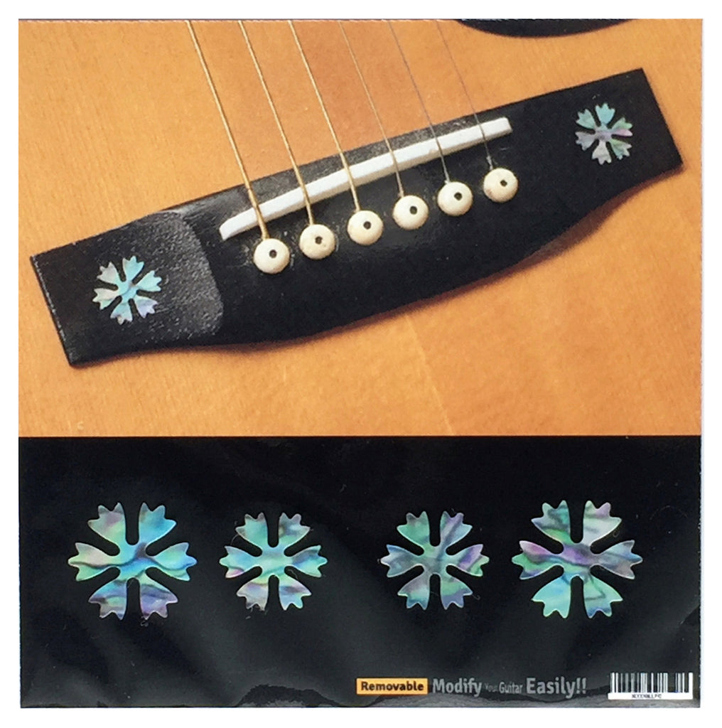 Snowflakes - 4pcs Bridge Inlays - Inlay Stickers Jockomo