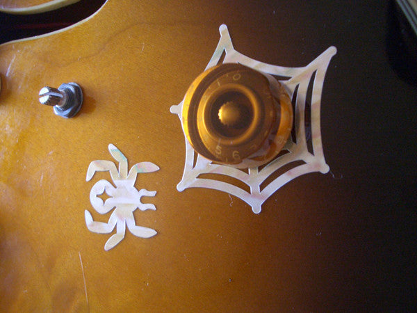 Guitar Volume Tone Knob-Spider Inlay Stickers Decals - Inlay Stickers Jockomo