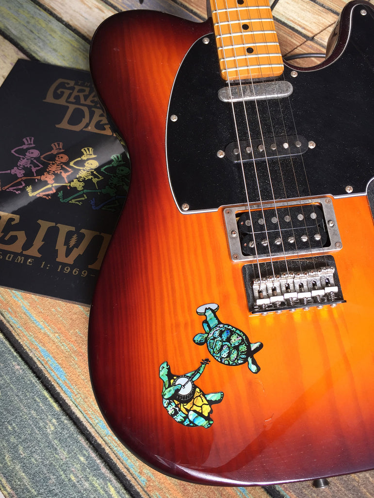 Grateful Dead Dancing Turtles Inlay Sticker for Guitar, Bass & Ukulele - Inlay Stickers Jockomo