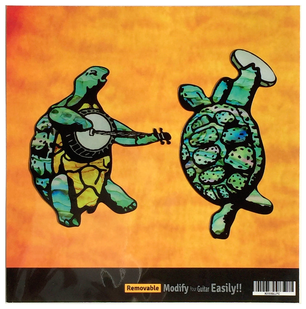 Grateful Dead Dancing Turtles Inlay Sticker for Guitar, Bass & Ukulele